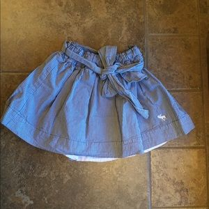 EUC A&F Blue and white gingham skirt